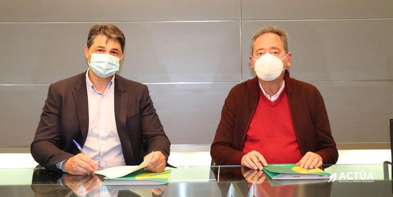 Actúa y Aidemar firman un convenio de colaboración para la integración sociolaboral de personas con discapacidad